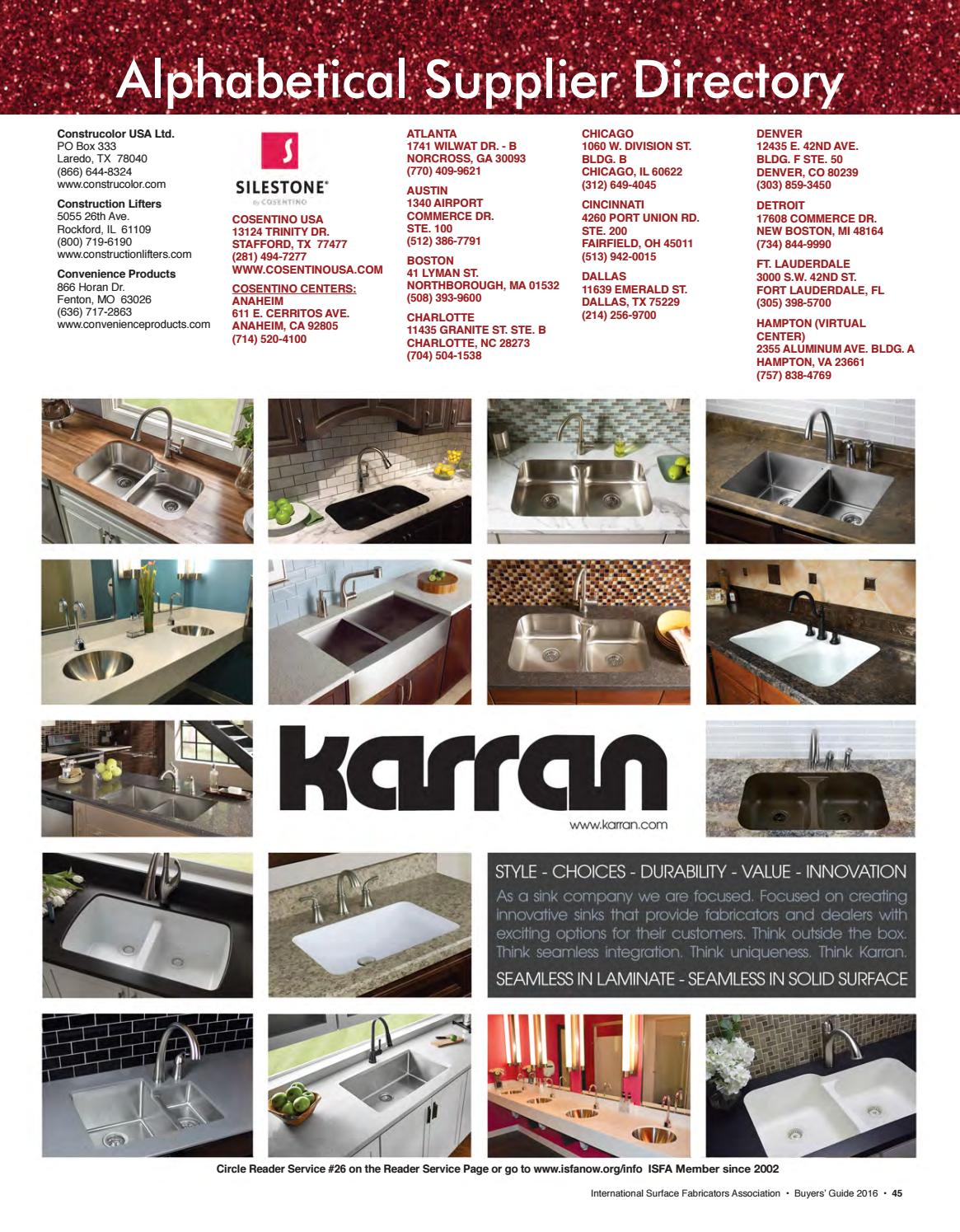 ISFA's Countertops & Architectural Surfaces 2016-2017