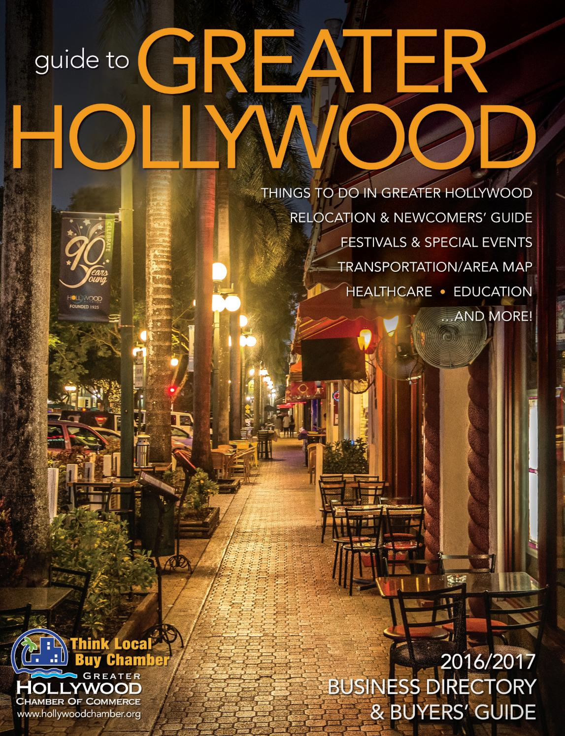 Greater Hollywood Chamber Of Commerce 2016 2017 Business Directory Buyers Guide By Atlantic Communications Group Inc