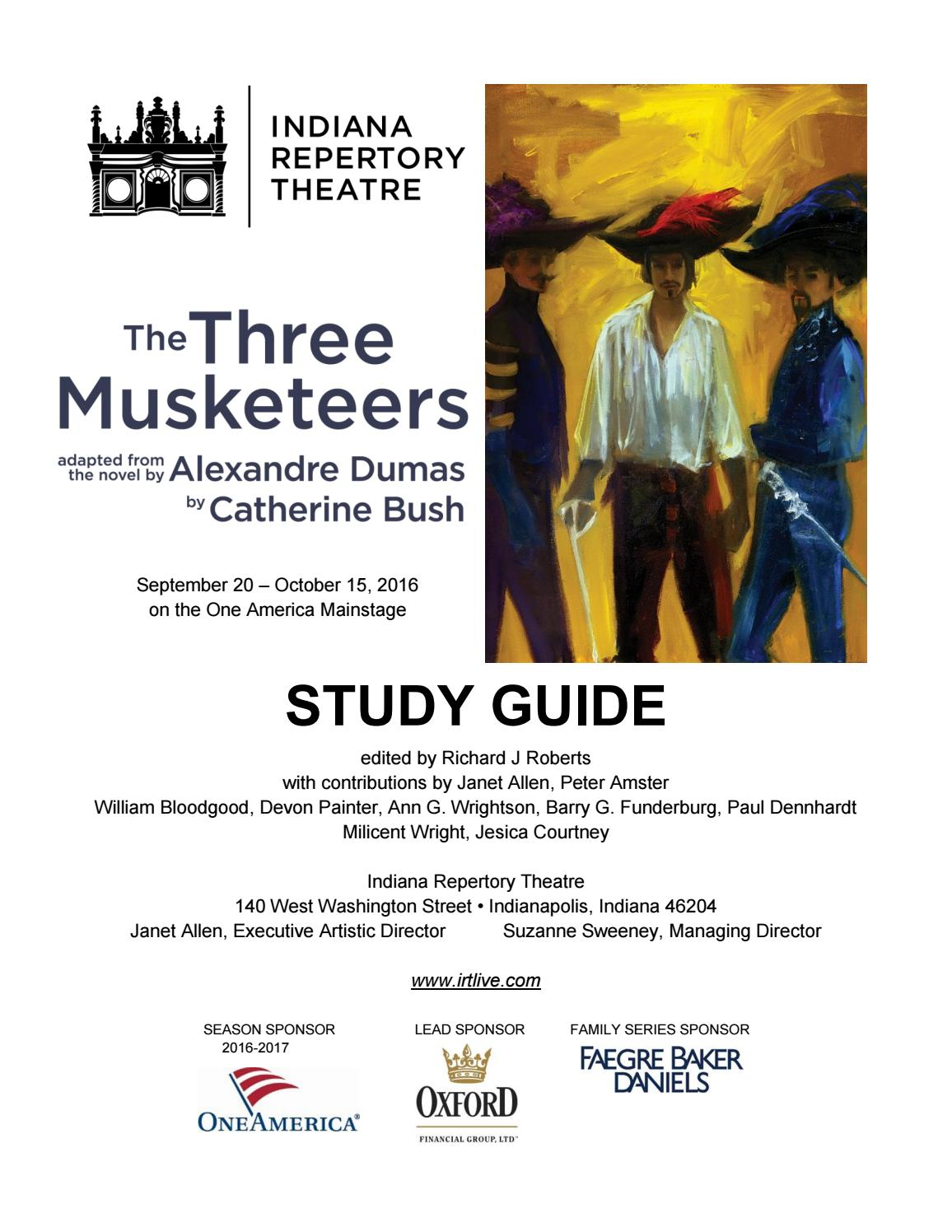 IRT Study Guide for The Three Musketeers by Indiana Repertory Theatre -  issuu
