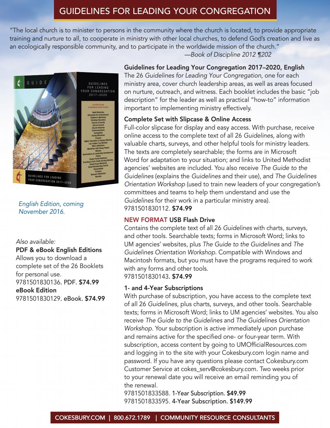 Guide of the english plus one ebook array cokesbury u0027s official united methodist resources 2017 2020 by united rh issuu com fandeluxe Images