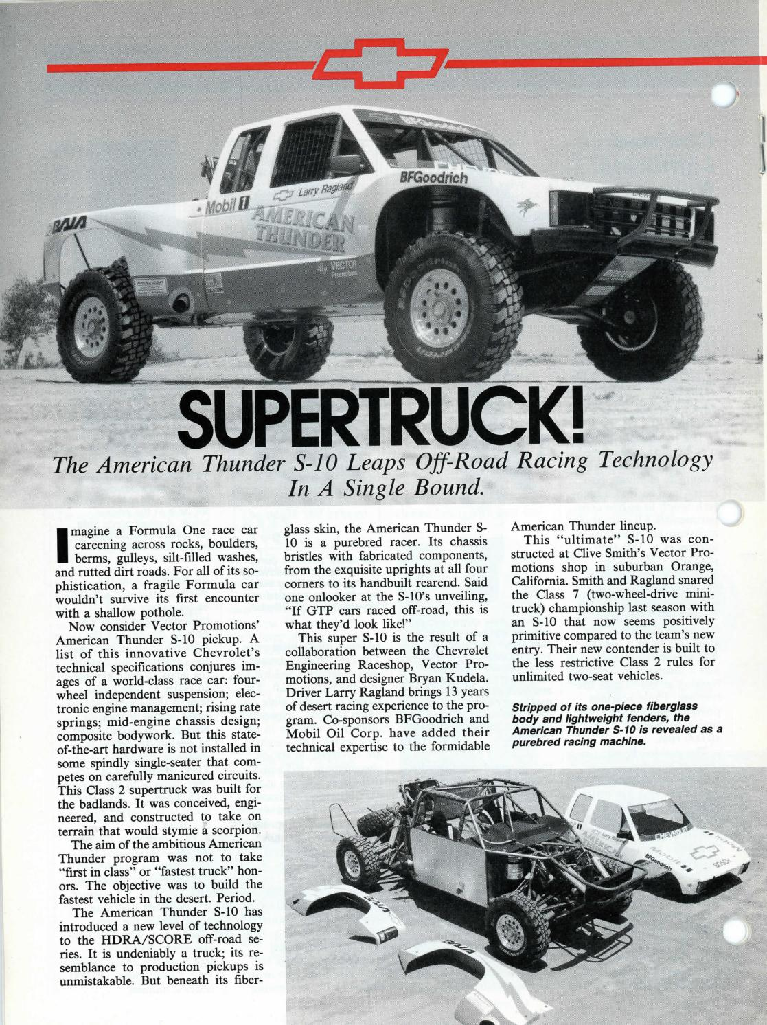 Supertruck, Chevy, 1989 by Lanternmark Industries Inc - issuu