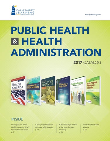 2017 public health health administration catalog by jones page 1 fandeluxe Gallery