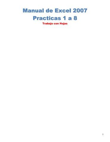 Manual excel 2007 by Juan Carlos - issuu