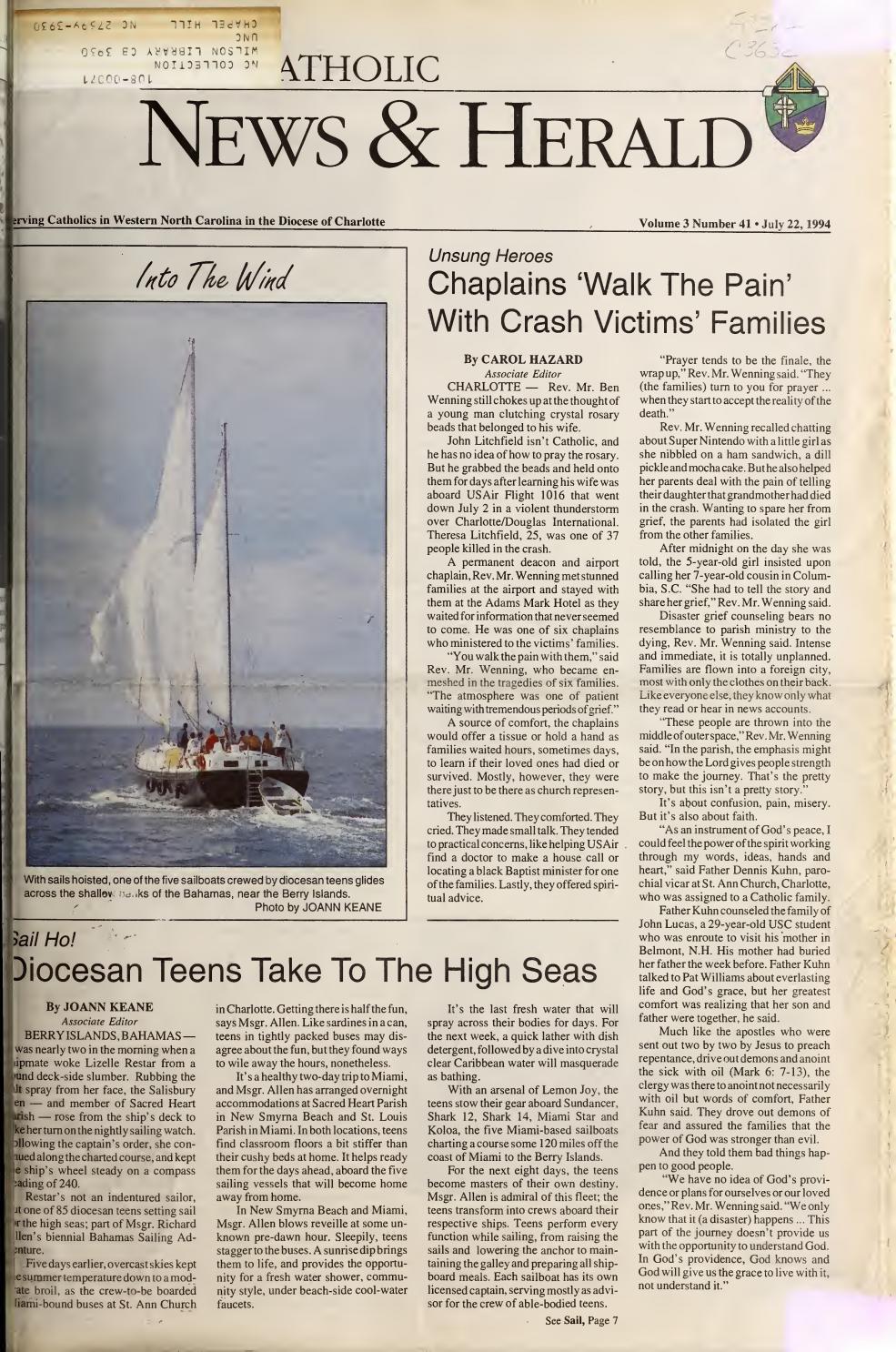 July 22, 1994 by Catholic News Herald - issuu