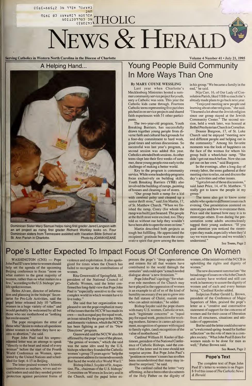 Debord Plan De Travail Cuisine july 21, 1995catholic news herald - issuu