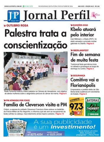 7bfe62f97 Jornal perfil 14 10 16 by Jornal Perfil - issuu