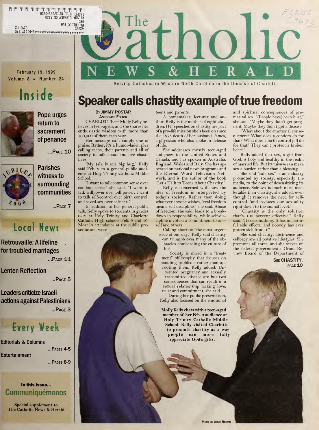 Feb 19, 1999 by Catholic News Herald - issuu