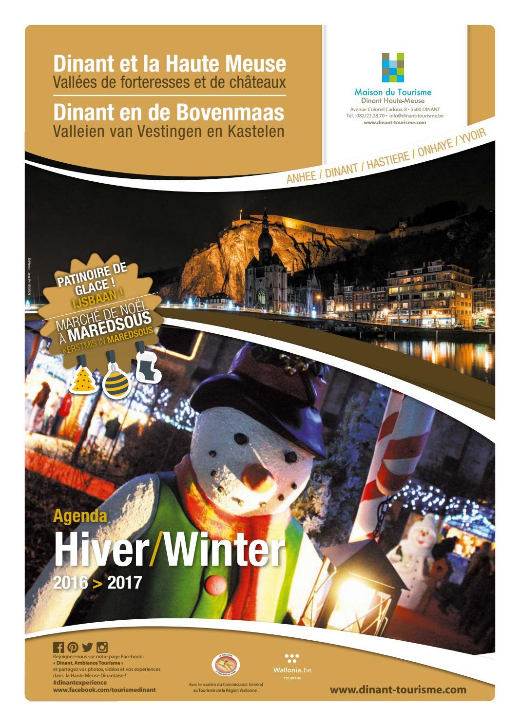 Dinant et la haute meuse en hiver by maison du tourisme issuu - Office du tourisme dinant ...
