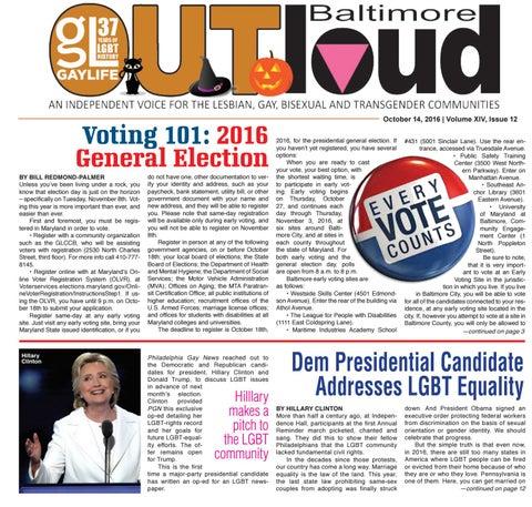 Baltimore OUTloud • October 14, 2016