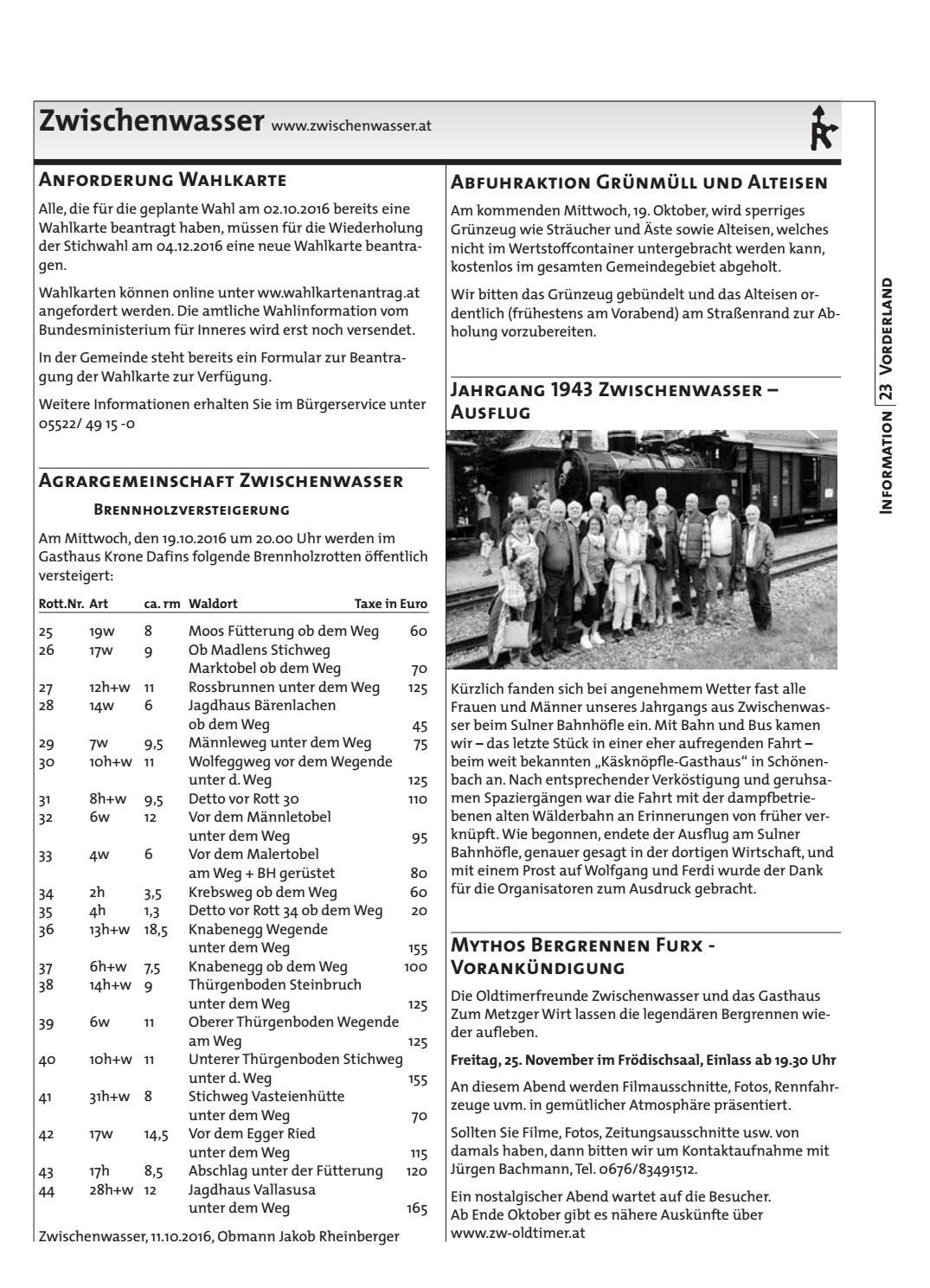 Gemeindeblatt Woche 41 by Rankweil - issuu on