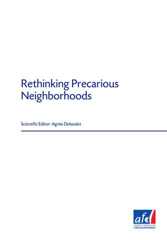 2d531ae772c4 Etudes de l'AFD n° 13 | Rethinking Precarious Neighborhoods by ...