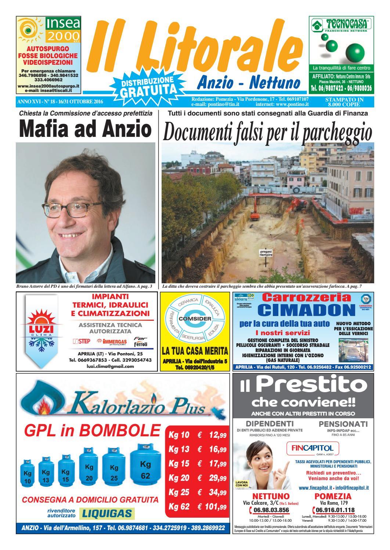 premium selection d7da4 49909 Il Litorale - Anno XVI - N. 18 - 16 31 Ottobre 2016 by Il Pontino Il  Litorale - issuu