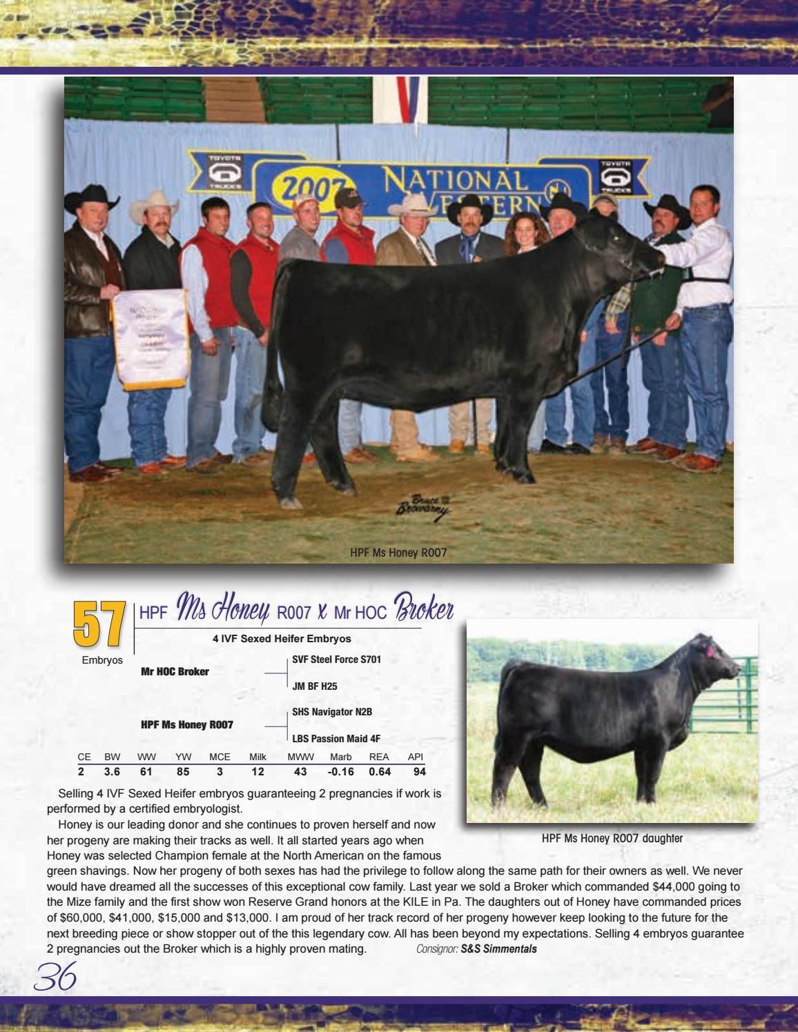 NAILE Simmental Select Sale 2016 by Barbour Marketing