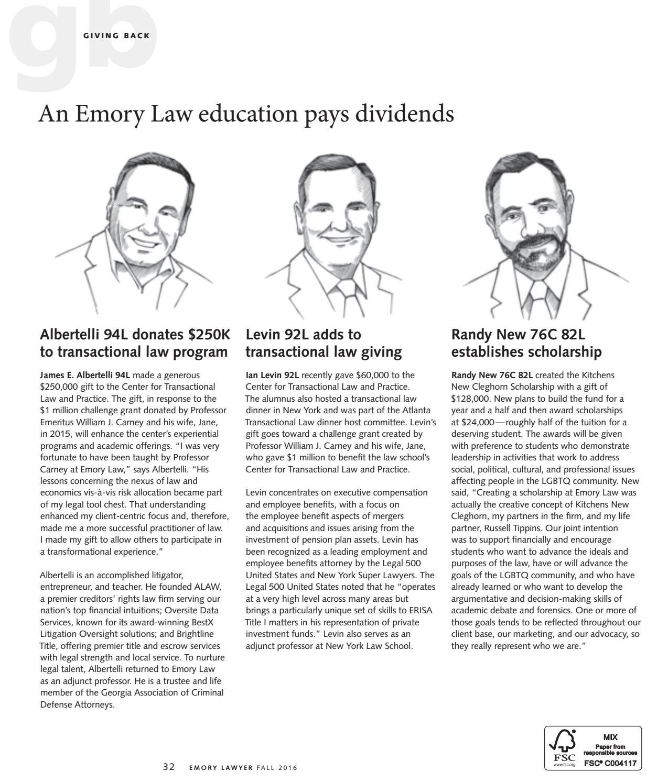 Emory Lawyer | Fall 2016 by Emory University School of Law - issuu