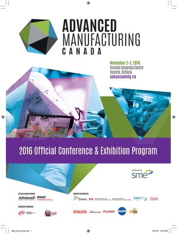 Advanced Manufacturing Canada Conference at a Glance by SME