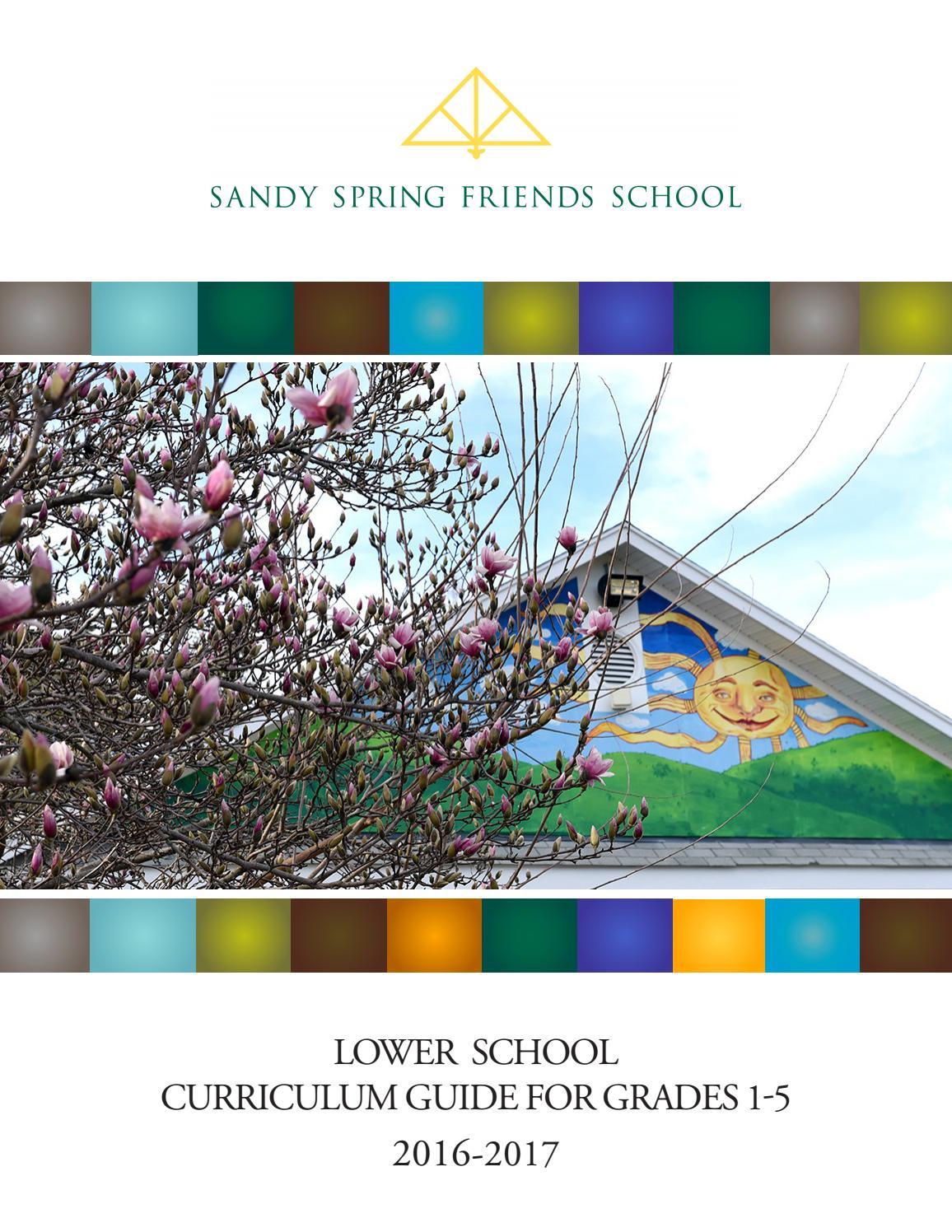 SSFS Lower School Curriculum Guide Grades 1 5 By Sandy
