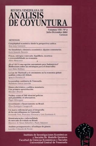 Revista venezolana de anlisis de coyuntura volumen viii n 2 julio page 1 fandeluxe Image collections