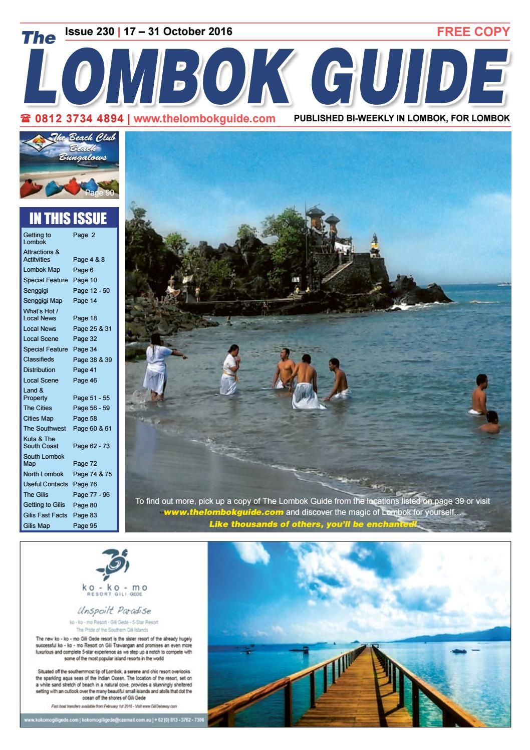 The Lombok Guide Issue 230 by The Lombok Guide - issuu