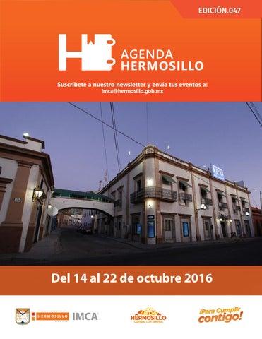 """Cover of """"Agenda Hermosillo 14 octubre 2016"""""""