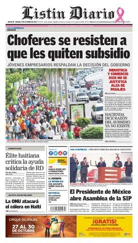 e5915f38e2 LD 15102016 by Listín Diario - issuu