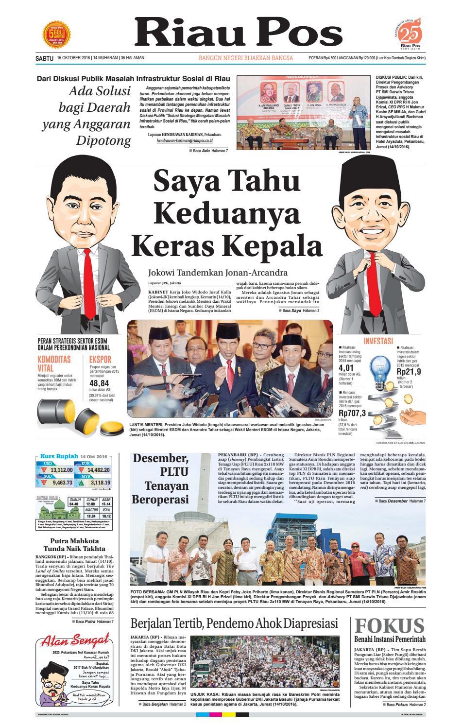 2016 10 15 By Riau Pos Issuu Produk Ukm Bumn Bella Dan Balon Merah