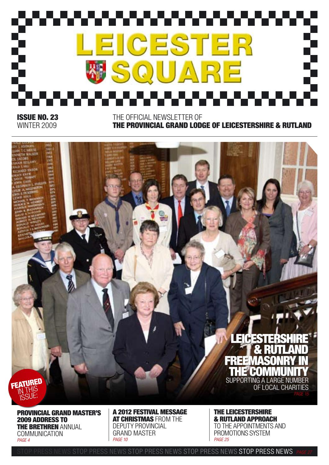 Leicester Square - Issue 23 (Winter 2009) by Leicestershire