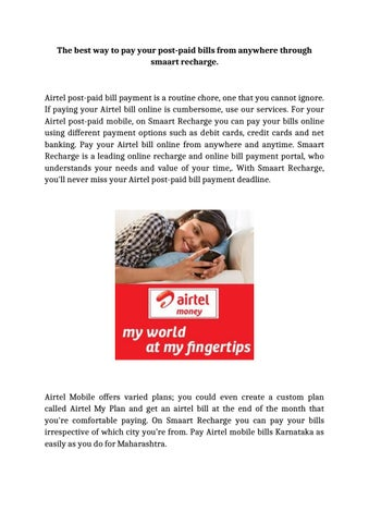 The best way to pay your postpaid bills from anywhere through smaart