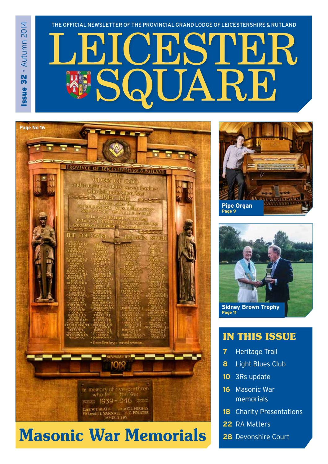Leicester Square Issue 32 Autumn 2014 By