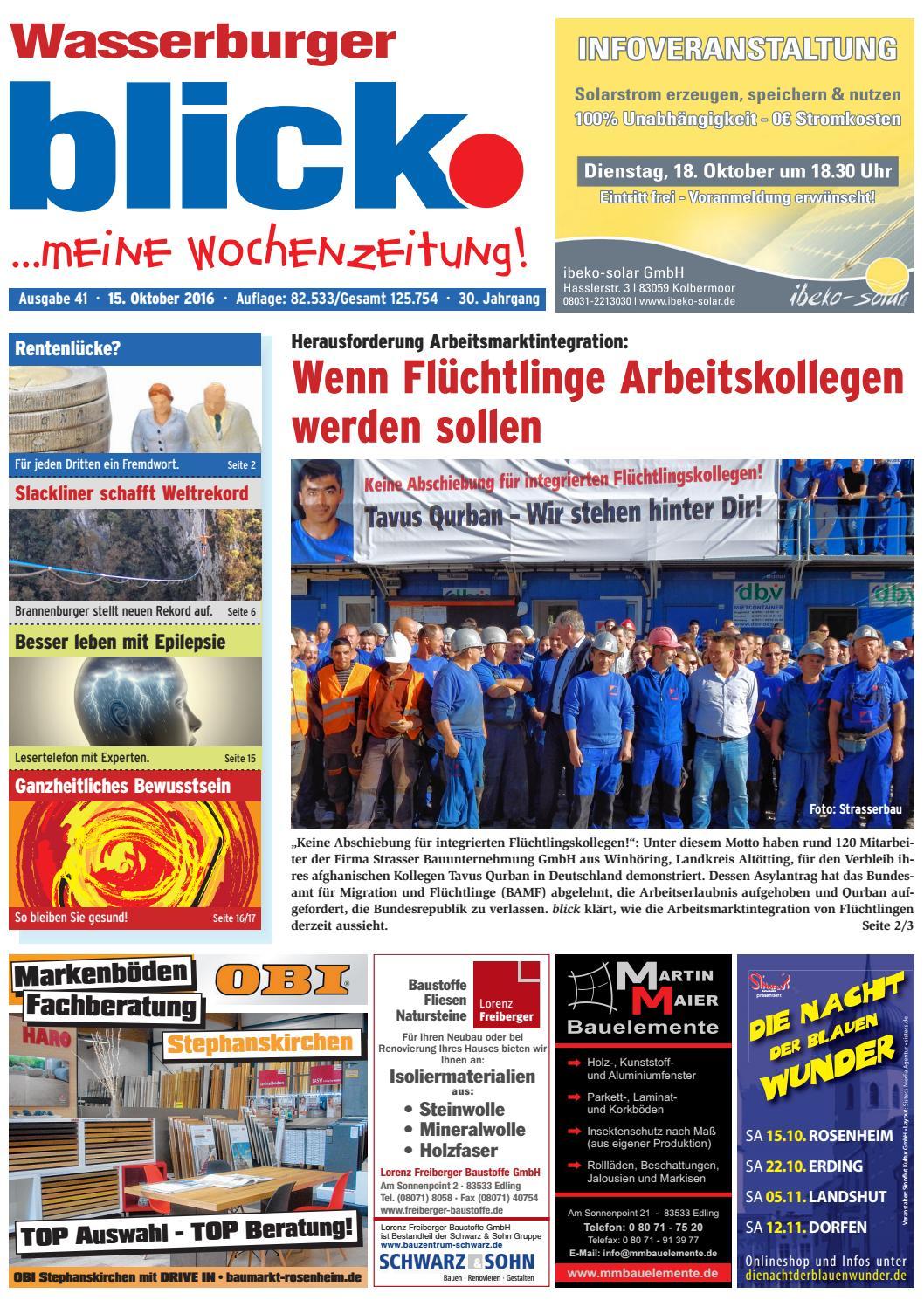 Wasserburger Blick Augabe 41 2016 By Blickpunkt Verlag