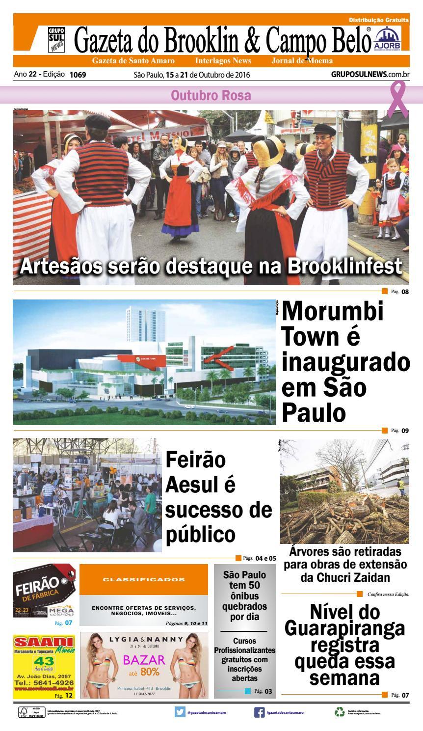 8f039315e Edição - 1069 - 15 a 21 de Outubro de 2016 by Grupo Sul News - issuu