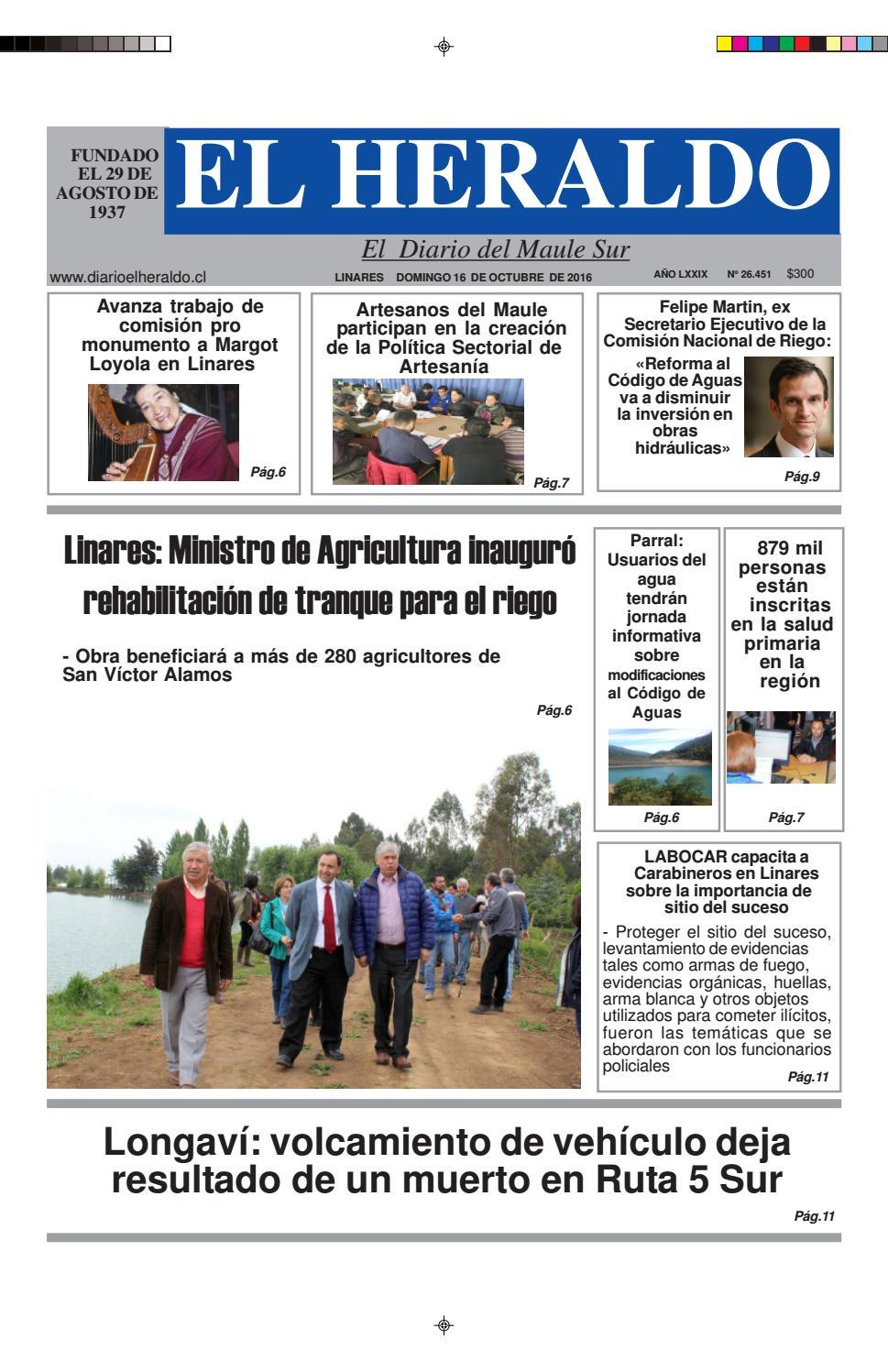 Domingo 16 de octubre 2016 by diario heraldo de linares - issuu