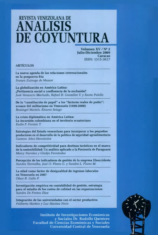 Revista Venezolana de Análisis De Coyuntura. Volumen XV Nº 2 julio ...
