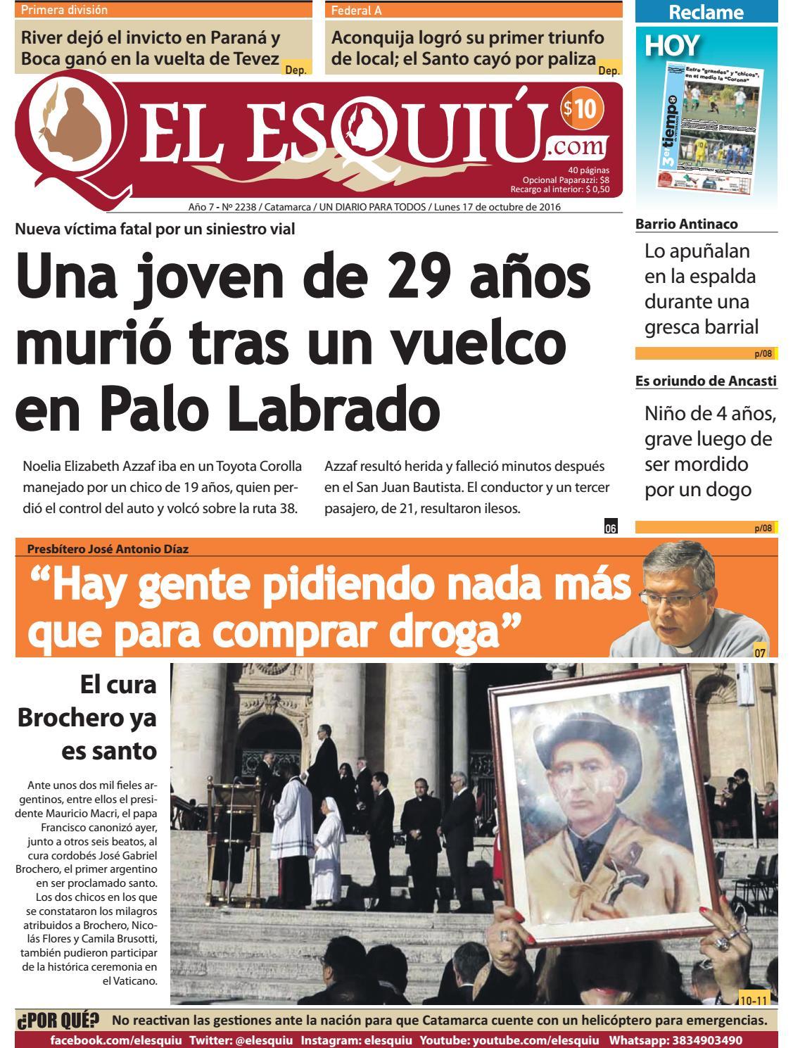 El Esquiu Com Lunes 17 De Octubre De 2016 By Editorial El Esqui  # Mateo Muebles Cutral Co
