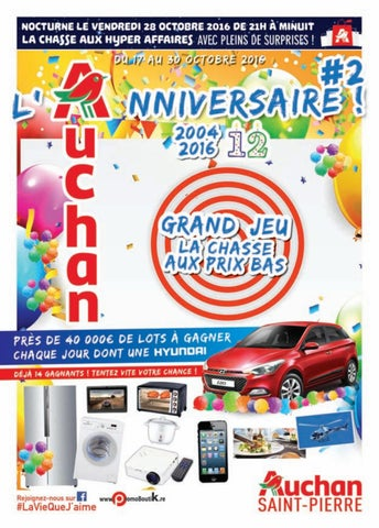 Catalogue Auchan Saint Pierre Du 17 Au 30 Octobre 2016 By Auchan