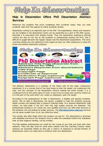 Dissertation help in london england women