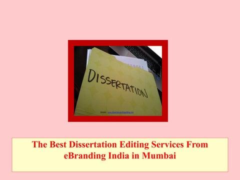Best dissertation editing services india
