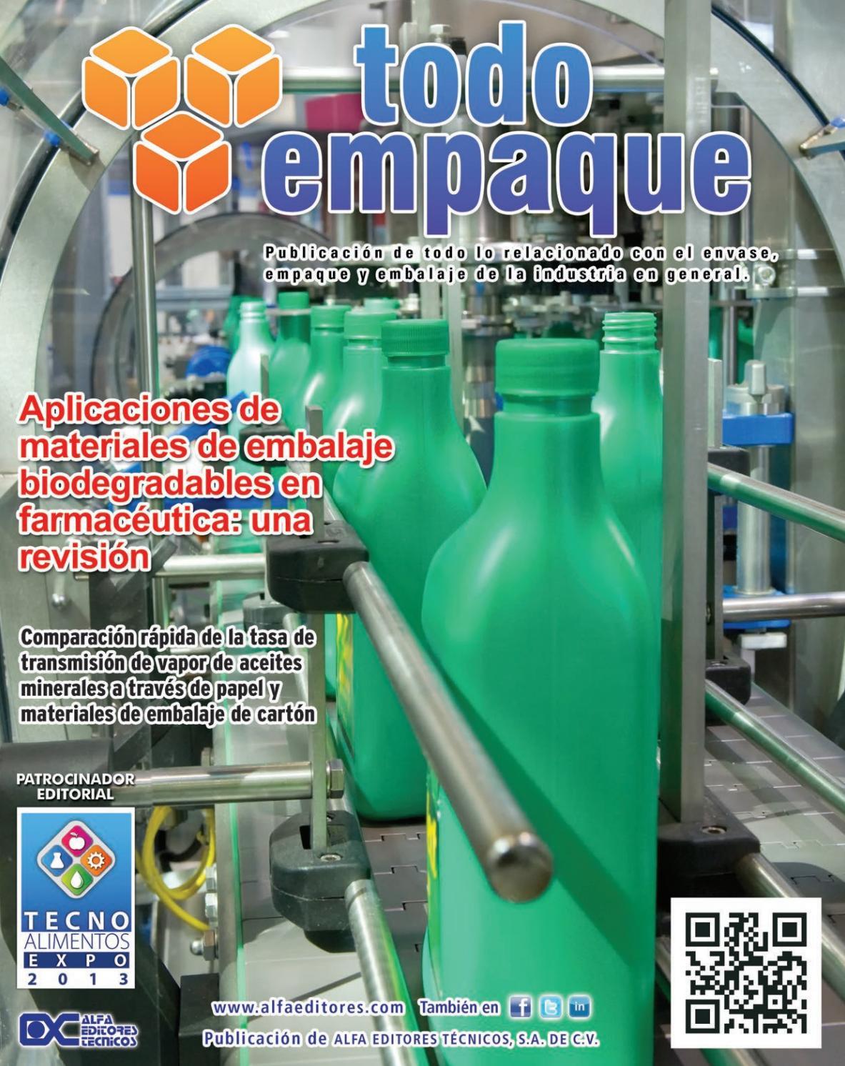 Todo Empaque marzo-abril 2013 by Alfa Editores Técnicos - issuu