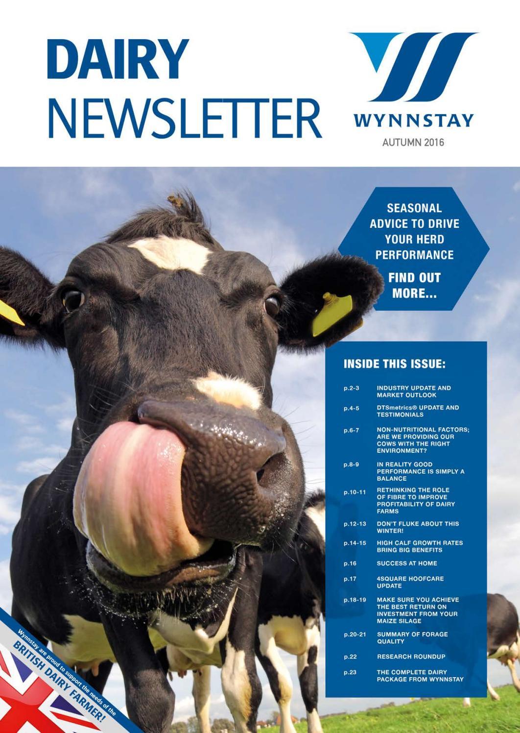 Dairy Newsletter Autumn 2016 by WynnstayGroup - issuu
