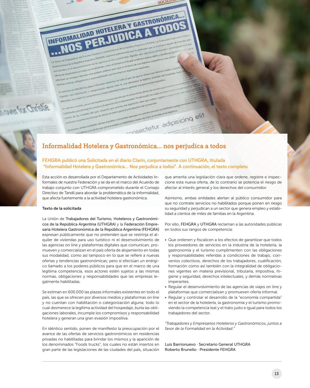 Revista Visión Hotelero Gastronómica Nº 31 by AEHGAR - issuu