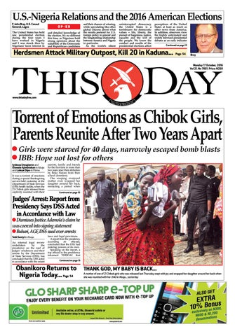 Tuesday 17th October 2016 By Thisday Newspapers Ltd Issuu