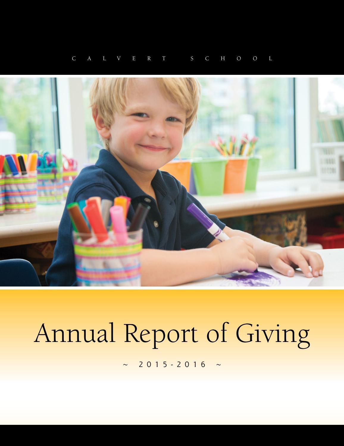 53ebb04155b1 Annual Report 2015-2016 by Calvert School - issuu