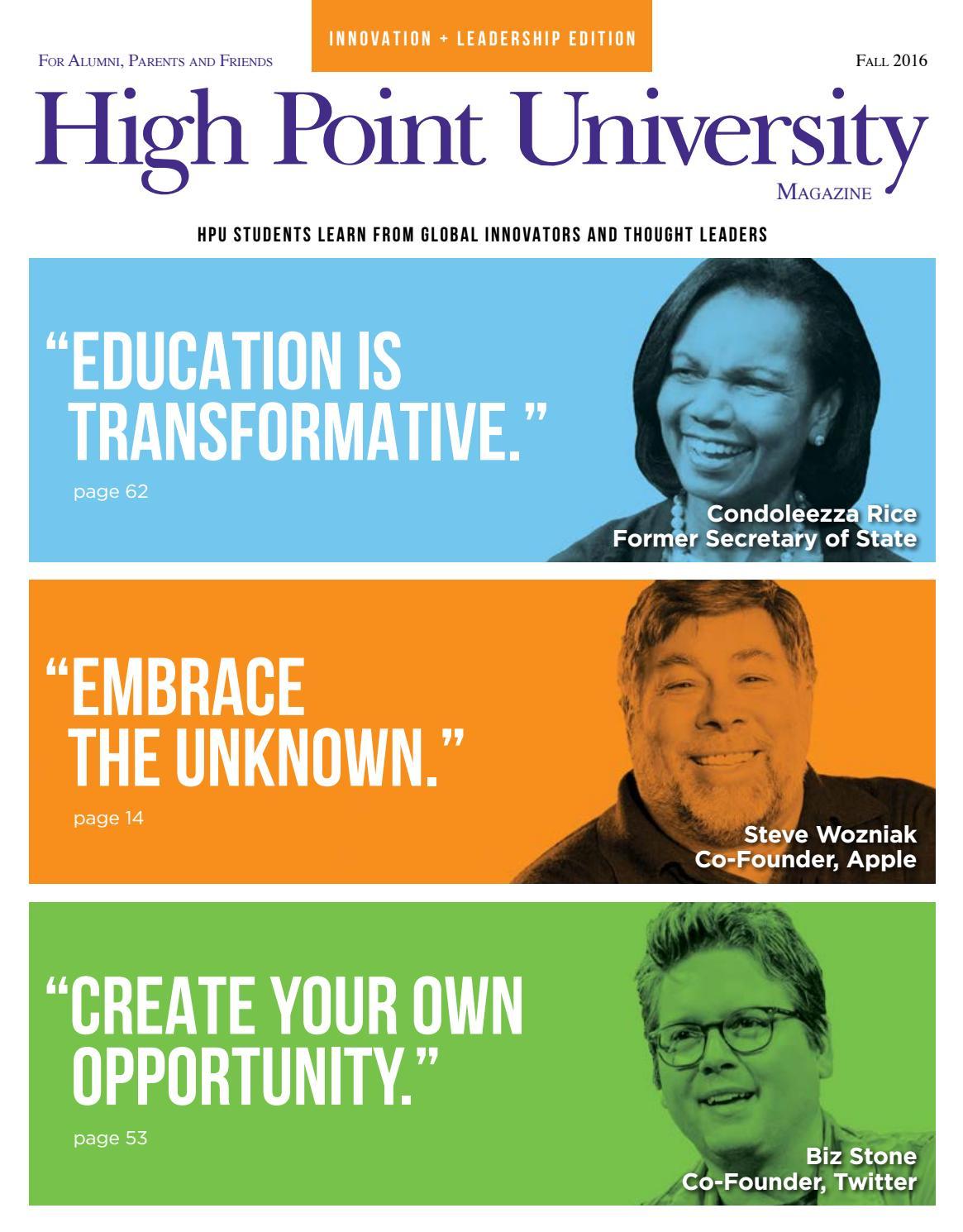 ca26124828c00 High Point University Magazine | Fall 2016 by High Point University - issuu