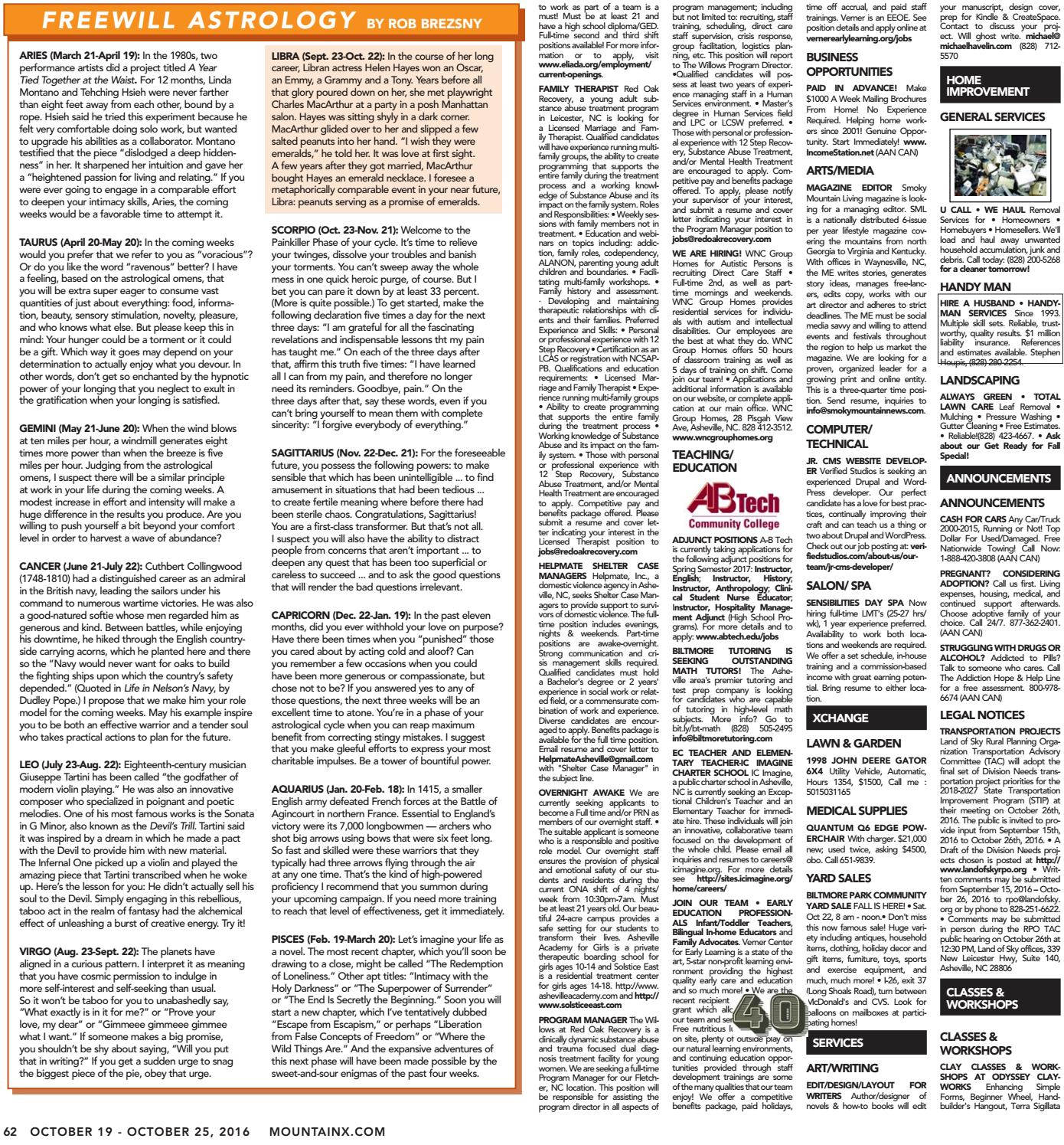 Mountain Xpress 10.19.16 by Mountain Xpress issuu
