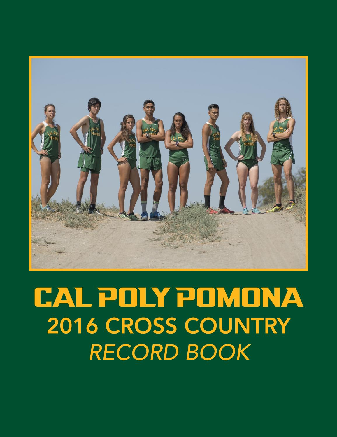 Cal Poly Pomona Cross Country 2016 Record Book By Billy Bronco Issuu