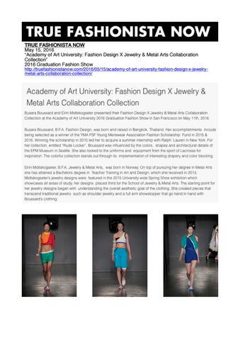 Academy Of Art University Jewelry Design