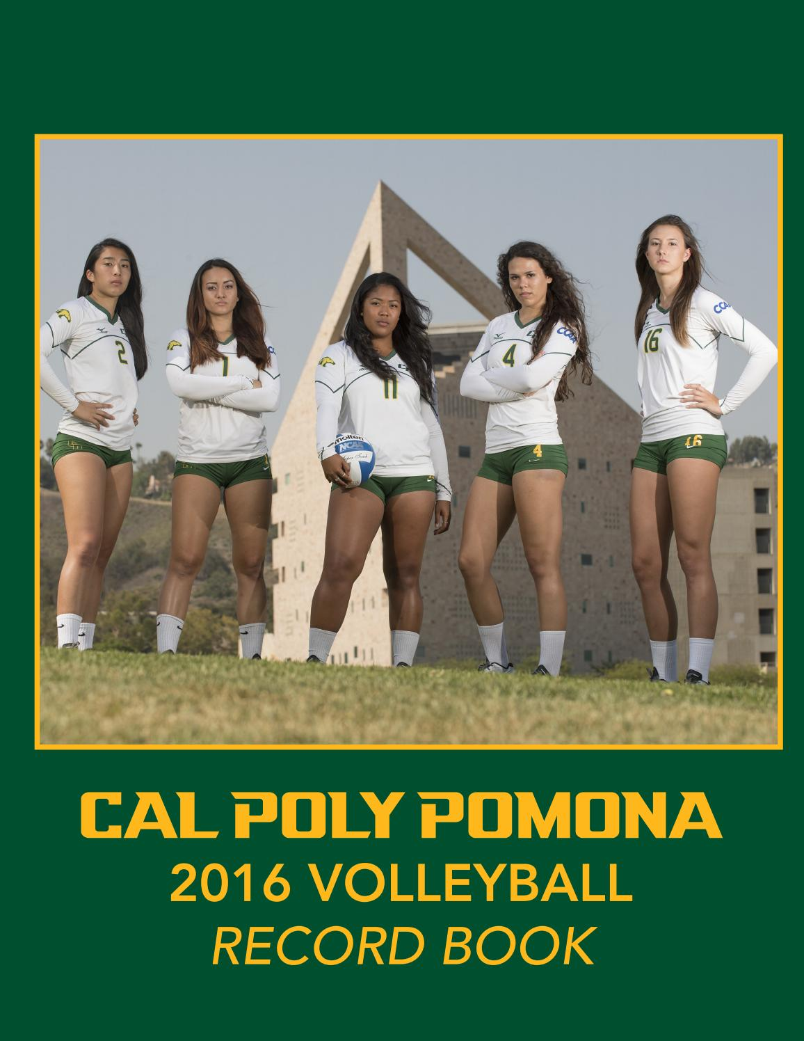 Cal Poly Pomona Volleyball 2016 Record Book By Billy Bronco Issuu