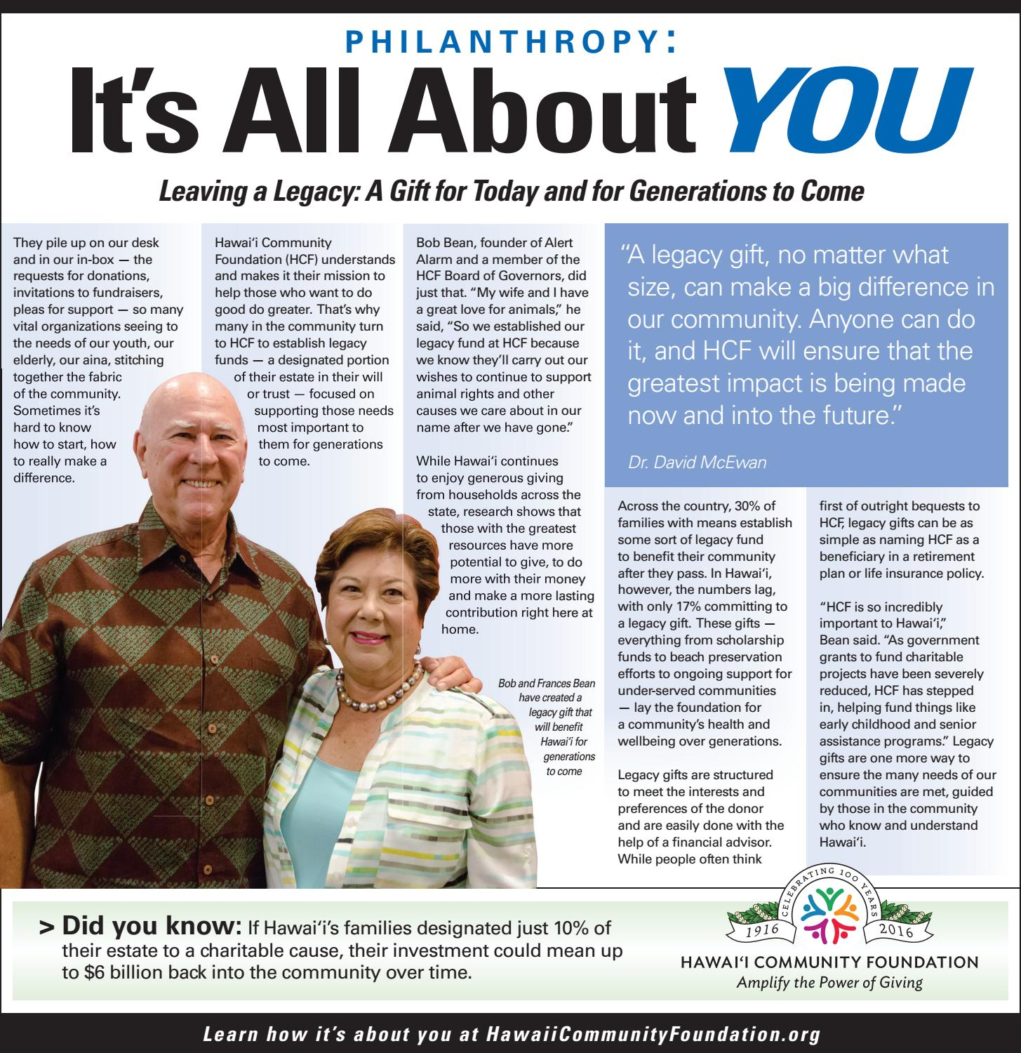 dc24e463e A Gift for Today and Generations to Come by Hawaii Community Foundation -  issuu
