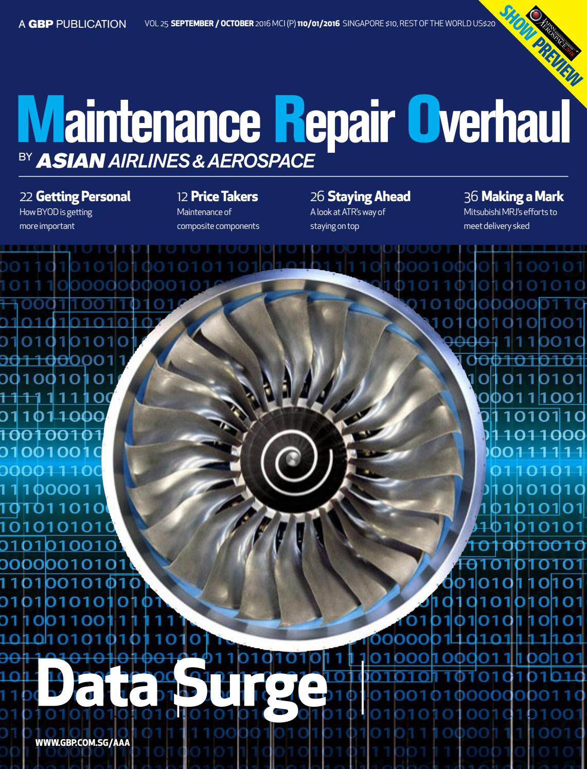 Asian Airlines & Aerospace   Sep / Oct 40 MRO Edition by Global ...