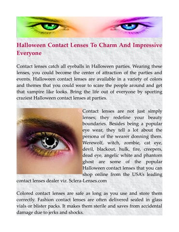 halloween contact lenses to charm and impressive everyone contact lenses catch all eyeballs in halloween parties wearing these lenses you could become the