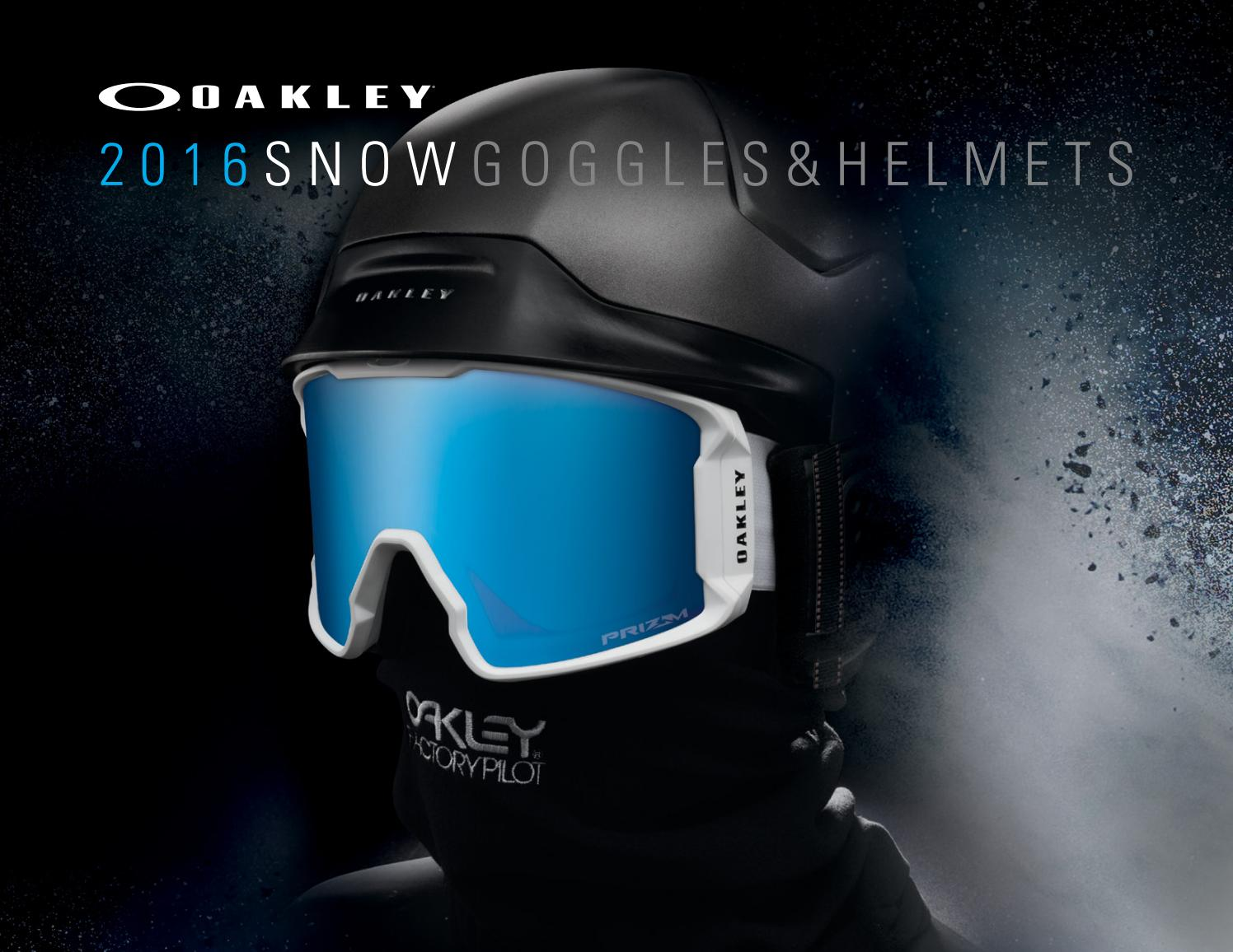 83614446a13 2016 Snow Goggle Product Book by Oakley - issuu